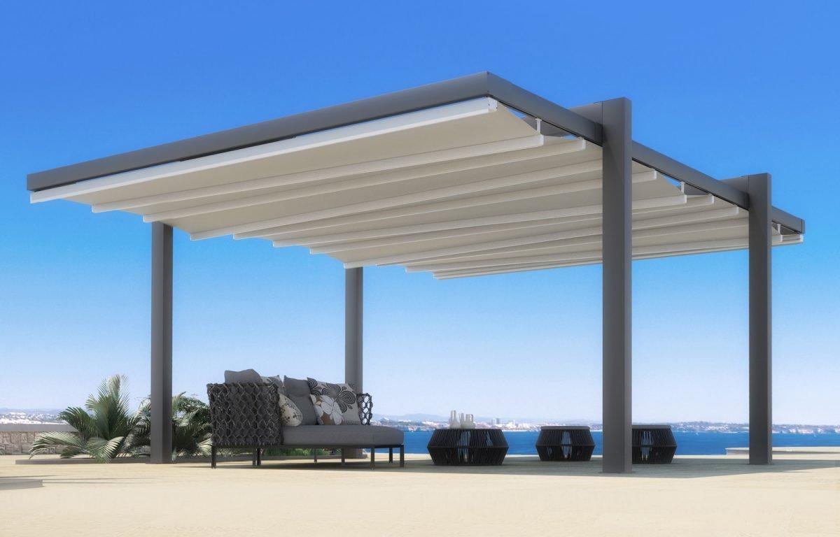 Pergole di Pratic per creare coperture in spazi aperti e proteggere da sole e pioggia