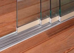 Pergolato a lamelle orientabili Slide Glass