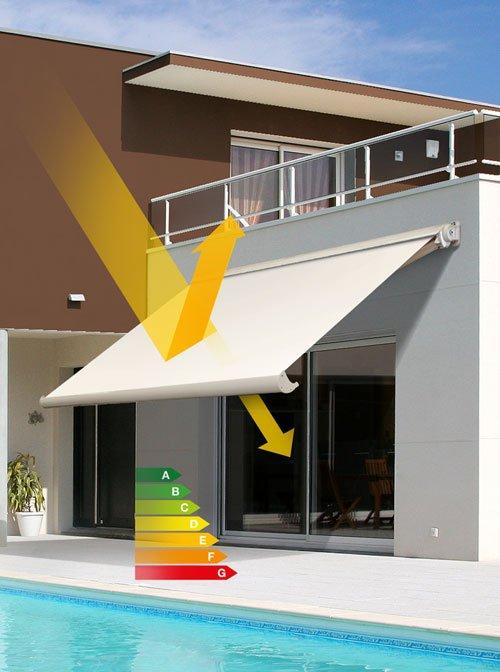 Tende da sole proteggono la tua casa risparmiando energia