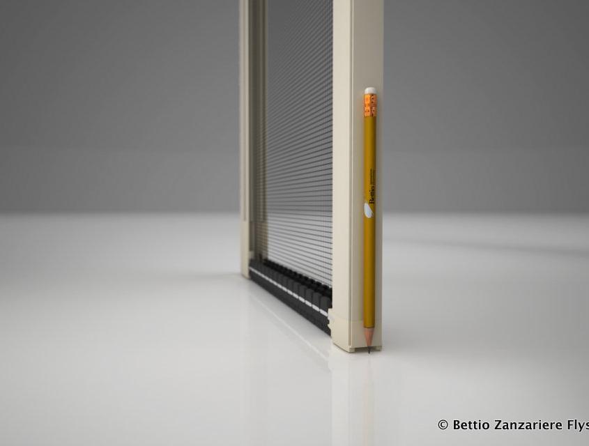 Zanzariera Picoscenica Bettio per poco spazio tra la finestra e tapparella oppure grata