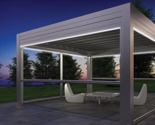 Skipper è la tenda antivento trasparente per chiudere pergole, porticati, verande